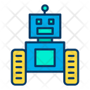 Robot Science Machine Icon