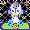 Robot Face Robot Mechanical Man Icon