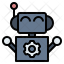 Robot Artificial Intelligence Technology Icon