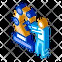 Robot Man Technology Icon