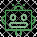 Robot Head Machine Icon