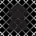 Robot Humanoid Heart Icon