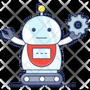 Automaton Robot Bionic Person Icon