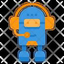 Robot Supporter Headphone Icon