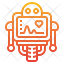 Robot Heart Rate Monitor Monitor Icon
