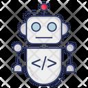 Robot Metal Electronic Icon