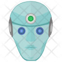 Robot Human Head Icon