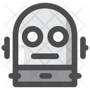 Halloween Monster Robot Icon