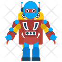 Robot Bionic Person Mechanical Person Icon