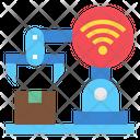 Robot Arm Technology Wifi Icon
