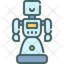 Social Assistant Humanoid Icon