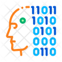 Robot Binary Code Icon