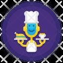 Robot Chef Icon