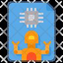 Robot Chip Icon
