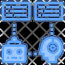 Robot Communication Chat Bot Robot Testing Icon