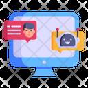 Robot Conversation Icon