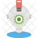 Robot Data Recovery Icon