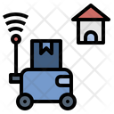 Robot Delivery Icon