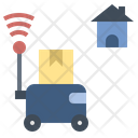 Robot Delivery Technology Icon