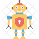 Robot Firewall Security Icon