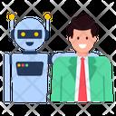 Happy Robot Robot Friend Bot Icon