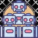 Robot Group Bots Robot Army Icon