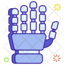 Exoskeleton Robot Hand Wired Gloves Icon
