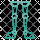Leg Robot Science Icon