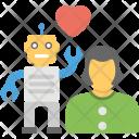 Robot Love Robotic Icon