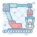 Conveyor Belt Logistic Conveyor Manufacturing Belt Icon