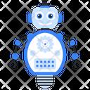 Robot Maintenance Bionic Man Humanoid Icon