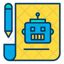 Robot Making Planing Icon
