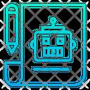 Robot making planing Icon
