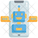 Robot Mobile Chat Icon