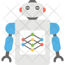 Robot Network Artificial Icon