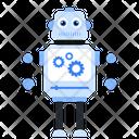 Robot Setting Bionic Man Humanoid Icon