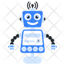 Robot Signals Bionic Man Humanoid Icon