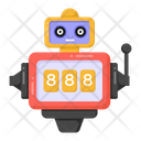 Slot Machine Robot Slot Machine Casino Game Icon