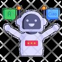 Robot Translator Icon