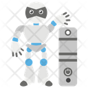 Robot With Pc Icon