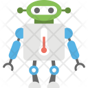 Robot With Thermometer Icon