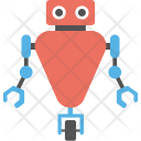 Robot With Wheel Icon