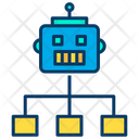 Robot work distribution Icon
