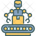 Worker Industry Futuristic Icon