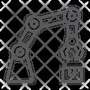 Robotic Mechanical Arm Icon