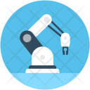 Robotic Arm Industrial Icon