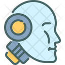 Robotic Head Humanoid Icon