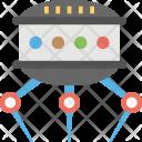 Robotic Alien Spacecraft Icon