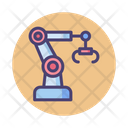 Robotic Arm Manufacturing Engineeing Icon