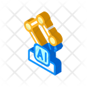 Robotic Arm Isometric Icon